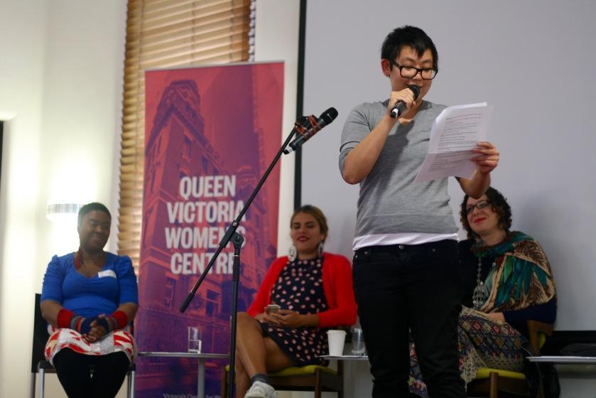 Lian Low in the Spoken Word session